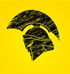 spartan warrior helmet weapon head roman fighter vector image vector image