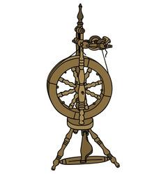 Spinning wheel vector image