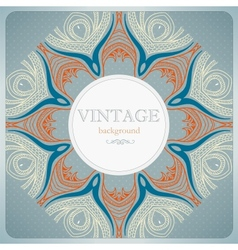 Vintage lace background vector image