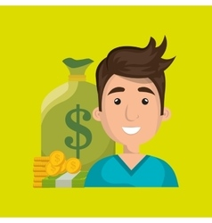 Man money cash coins vector