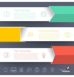 Steps by step chart and graph mock up vector