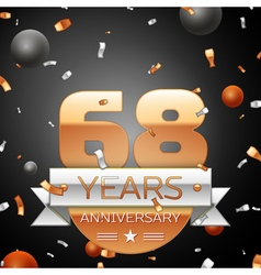 Sixty eight years anniversary celebration vector