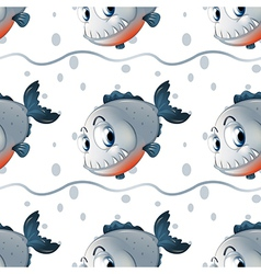 A wallpaper design with big fishes vector image