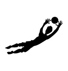 Soccer goalkeeper vector