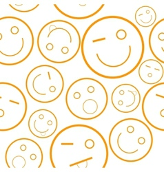 Smile seamless pattern vector