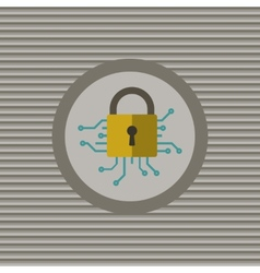 Cyber security flat icon vector