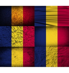 Flag of chad with old texture vector