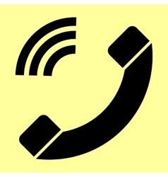 Phone sign flat style icon vector