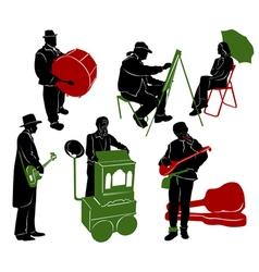 Street performers 2 vector