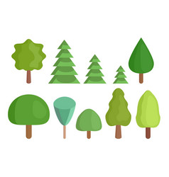 a collection of isometric trees to create a flat vector image