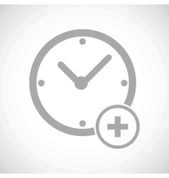 Add time icon vector