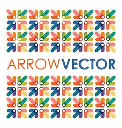 arrow square vector image