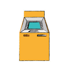 Atm machine isolated icon vector