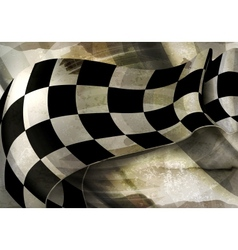 Background Horizontal Checkered old-style vector image vector image
