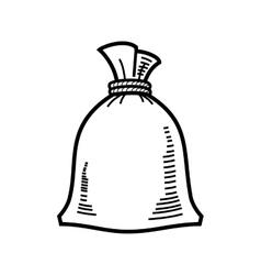 Bag flour vector
