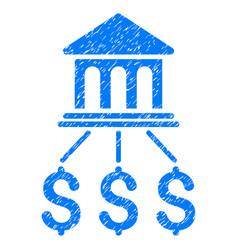 Bank scheme grunge icon vector