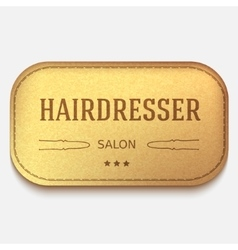 banner Leather label hairdresser logo or vector image vector image