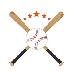 Baseball equipment emblem sport vector