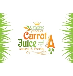 Carrot juice with vitamin a banner vector