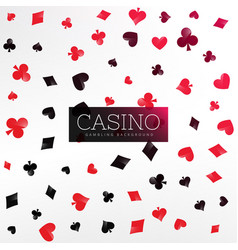 Casino background with poker card elements vector