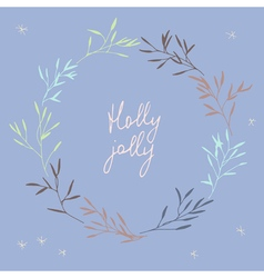 Christmas elegant postcard vector image