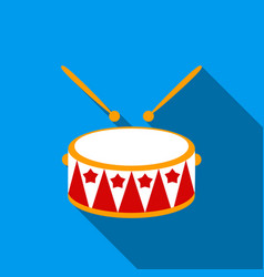 Drum flate icon for web and mobile vector