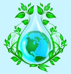 ecology logo vector image