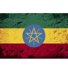 Ethiopian flag grunge background vector
