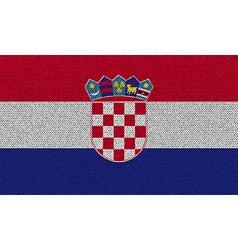 Flags Croatia on denim texture vector image vector image