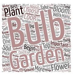 Flower bulbs text background wordcloud concept vector