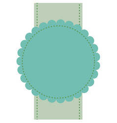 Green badge label banner empty sale sticker vector