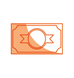 Money billet symbol vector