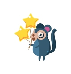 Monkey party animal icon vector