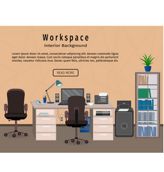 office interior workspace workplace organization vector image