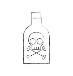 Poison bottle with skull vector