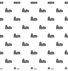 Roman Colosseum pattern simple style vector image vector image