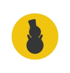 Snowman silhouette icon vector image vector image