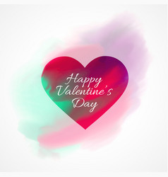 Valentines day background with watercolor heart vector