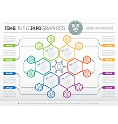 Web Template for circle infographic diagram or vector image vector image