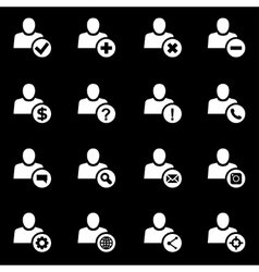 white people search icon set vector image