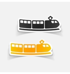 Realistic design element train vector