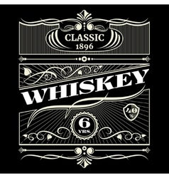Vintage antique american whiskey label vector image