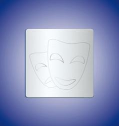 mask metal vector image
