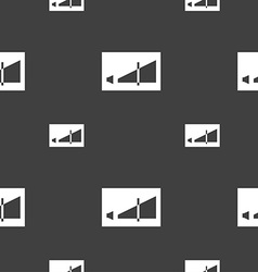 Volume adjustment icon sign seamless pattern on a vector