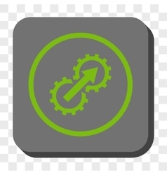 Gear Integration Rounded Square Button vector image