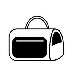 Hand bag isolated icon vector