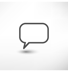Message empty icon vector