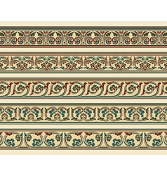 Set of five decorative borders vector