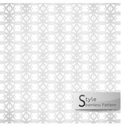 Abstract seamless pattern lotus floral mesh loop vector