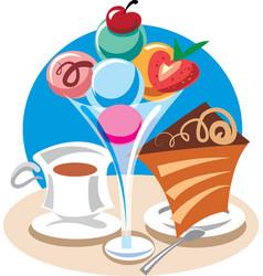 Ice cream dessert vector